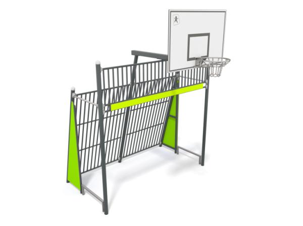Fussballtor mit Basketballkorb